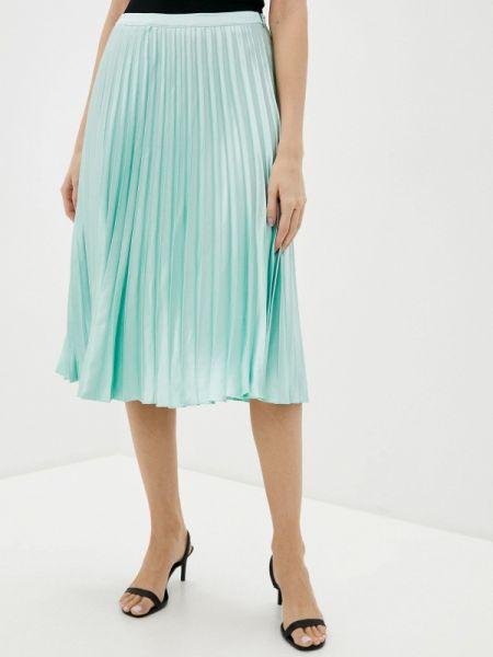 Плиссированная юбка зеленый весенняя Silvian Heach