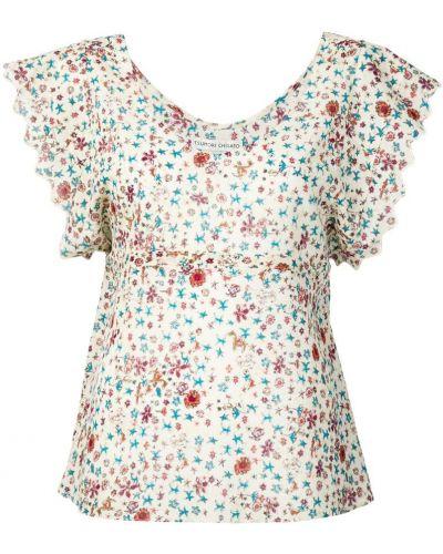 Блузка с коротким рукавом бежевый Tsumori Chisato
