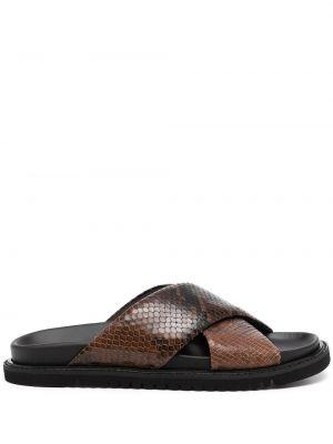 Коричневые кожаные сандалии Paul Smith