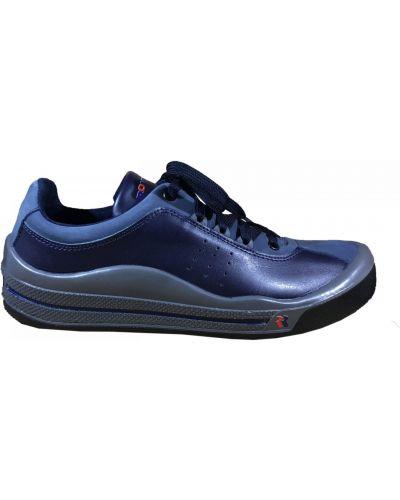 Кожаные кроссовки - синие Romika
