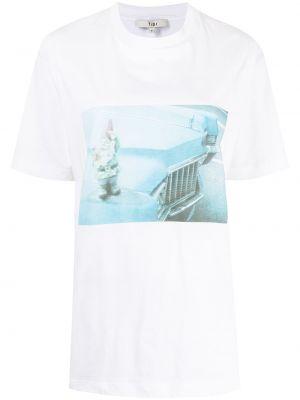 Белая футболка с круглым вырезом Tibi