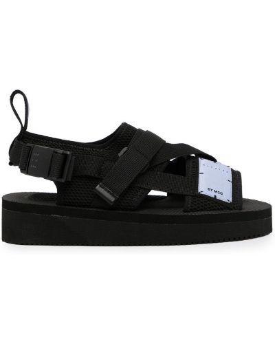 Czarne sandały peep toe Mcq