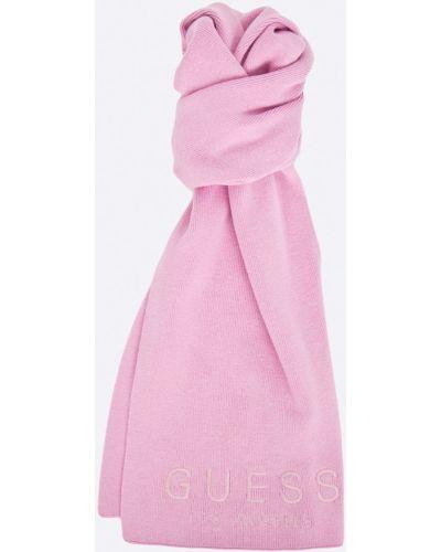 Розовый шарф трикотажный Guess Jeans