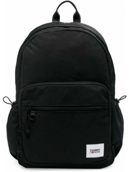 Льняная черная сумка на плечо с карманами Tommy Jeans