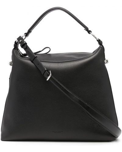 Czarna torebka skórzana Ralph Lauren Collection
