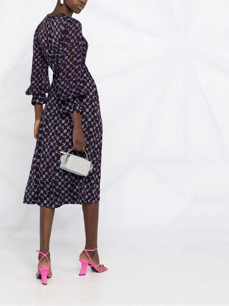 Черное платье миди с запахом с вырезом Karl Lagerfeld