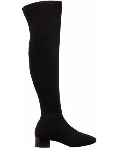 Ботинки на каблуке сапоги-чулки на плоской подошве What For