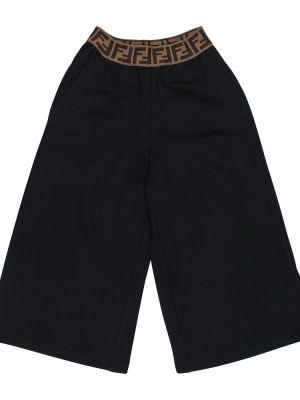 Bawełna bawełna czarny szorty Fendi Kids