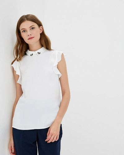 Белая блузка с рюшами Zarina