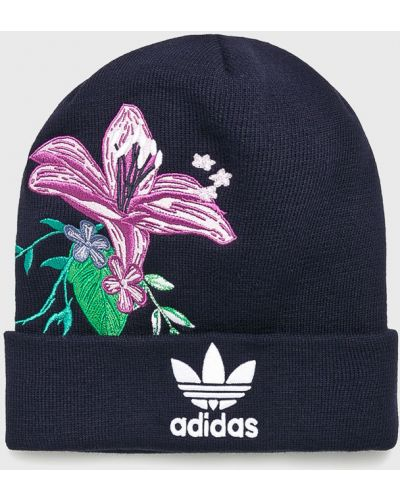 Зимняя шапка с отворотом из джерси Adidas Originals