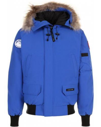 Куртка с капюшоном синяя Canada Goose