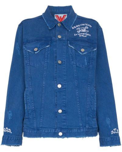 Синяя джинсовая куртка с вышивкой Adaptation