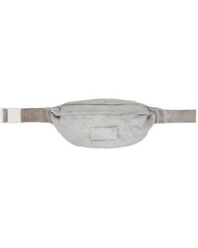 Текстильный серебряный ремень с поясом с заплатками Maison Margiela