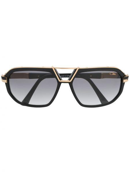 Черные солнцезащитные очки металлические с завязками Cazal