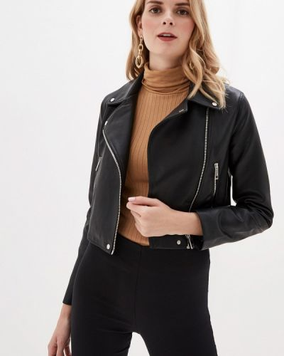Кожаная куртка черная осенняя Mango