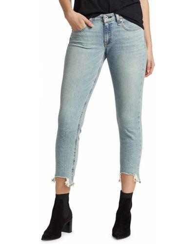 Niebieskie jeansy z niskim stanem bawełniane Rag & Bone