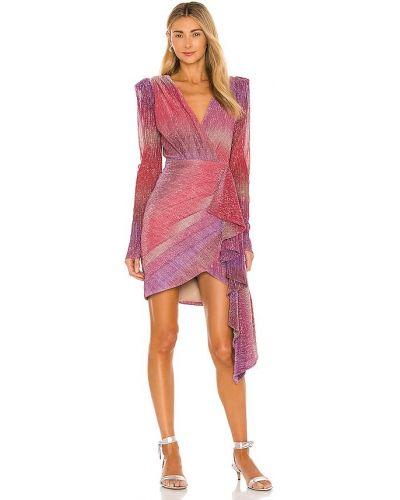 Розовое платье мини с люрексом с подкладкой Patbo