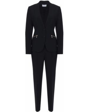 Деловой костюм на пуговицах с V-образным вырезом с поясом Boss