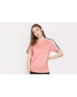 T-shirt bawełniana - różowa Fila