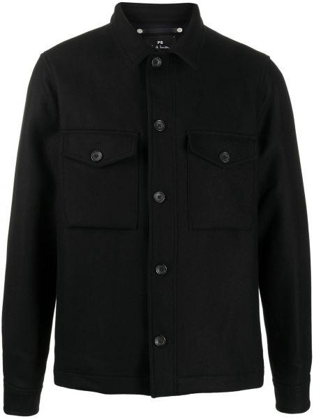 Koszula z długim rękawem długa czarna Ps Paul Smith