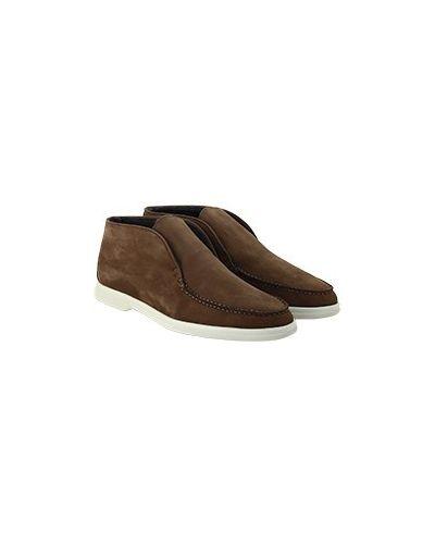 Коричневые ботинки с мехом Enrico Mandelli