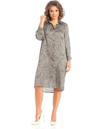 Прямое с рукавами платье-рубашка с воротником Merlis
