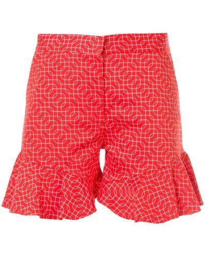Красные шорты с оборками N Duo