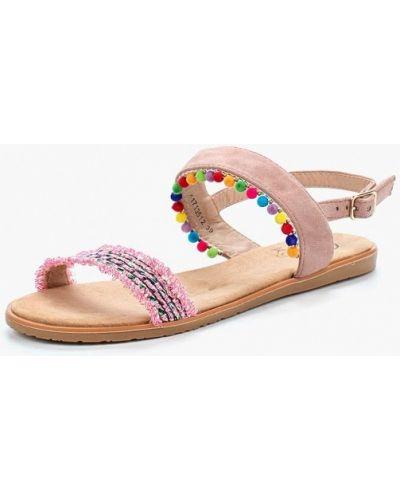Розовые сандалии замшевые Kylie