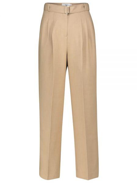 Прямые бежевые брюки Frankie Shop