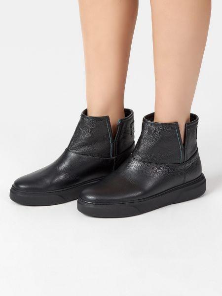 Кожаные ботинки - черные Stokton