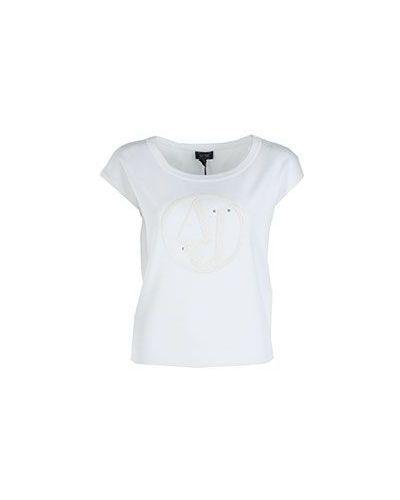 Белая футболка из вискозы Armani Jeans