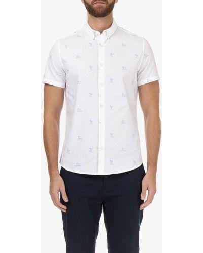 Белая рубашка с короткими рукавами Burton Menswear London