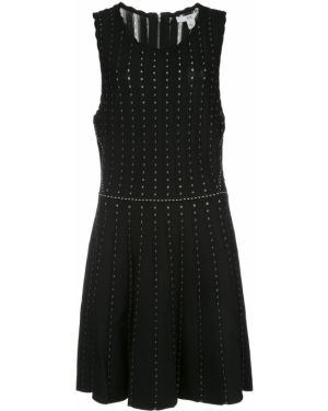Платье с вышивкой - черное Zac Zac Posen