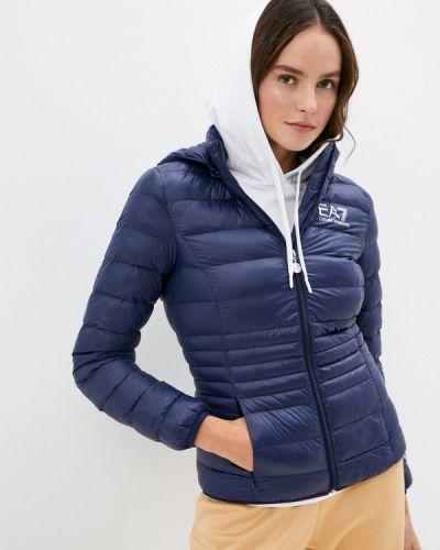 Теплая синяя утепленная куртка Ea7