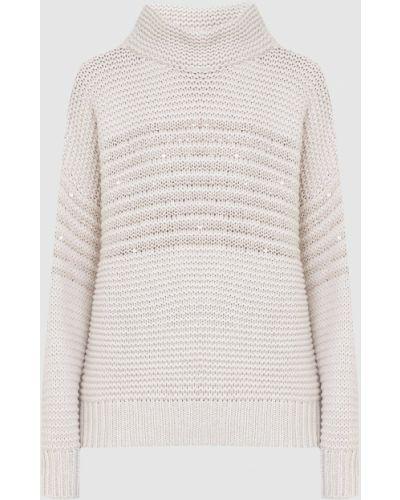 Кашемировый свитер - бежевый Brunello Cucinelli