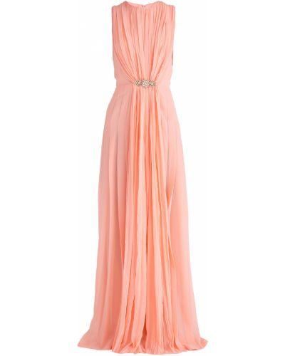 Вечернее платье со шлейфом с вырезом Ermanno Scervino