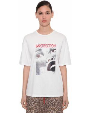Biały t-shirt bawełniany Annakiki