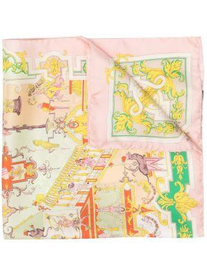 Облегченный розовый шелковый платок Etro