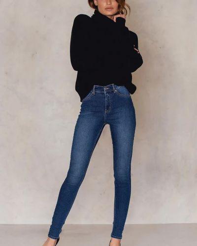 Синие зауженные джинсы-скинни свободного кроя Cheap Monday