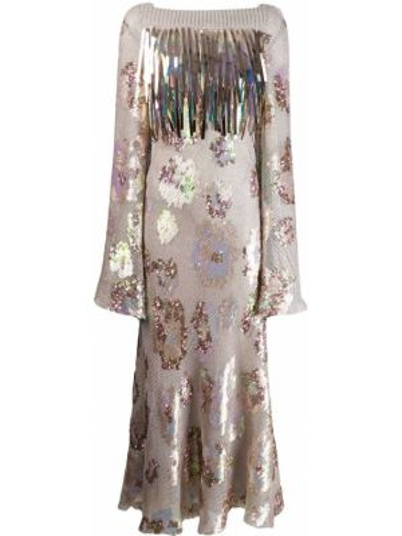 Платье с открытой спиной с пайетками Talbot Runhof