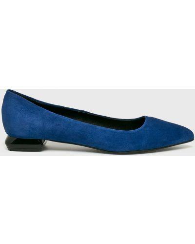 Синие балетки кожаные Gino Rossi