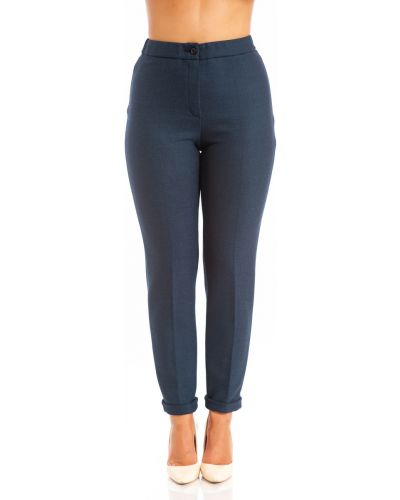Зауженные укороченные брюки на резинке с отворотом Merlis