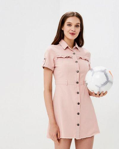 Розовое джинсовое платье Urban Bliss
