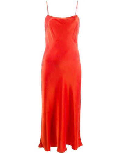 Шелковое платье миди - красное Bec & Bridge