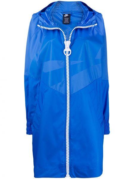 Długi płaszcz z kapturem z kieszeniami Nike