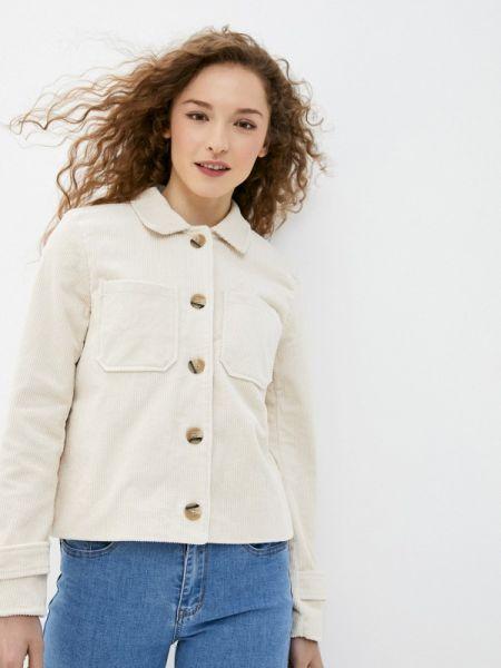Бежевая облегченная куртка Ichi