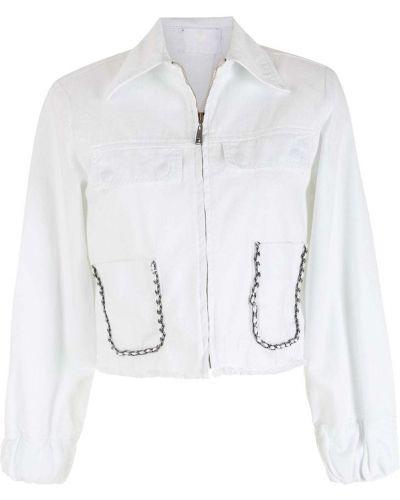 Белая куртка на молнии Andrea Bogosian