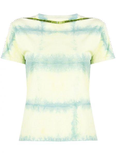 T-shirt z printem - żółta Collina Strada