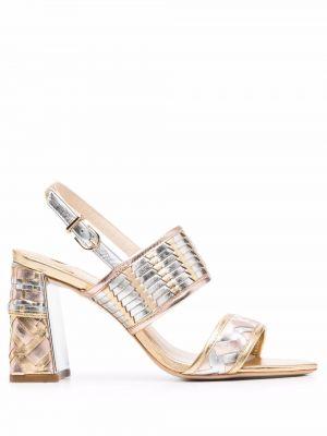 Кожаные сандалии золотые Sophia Webster