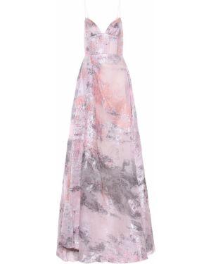 Шелковое платье - розовое Alex Perry